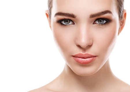 Beauty, spa. Attractive woman with beautiful face