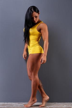perfect fit: Bodybuilding. Gorgeous female with perfect body
