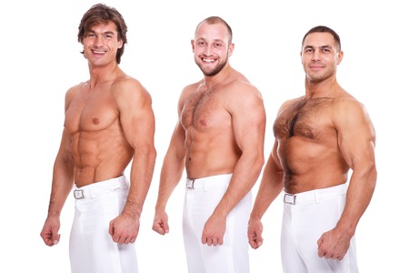 Zeigen Sie, Striptease. Handsome Jungs mit sexy Körper