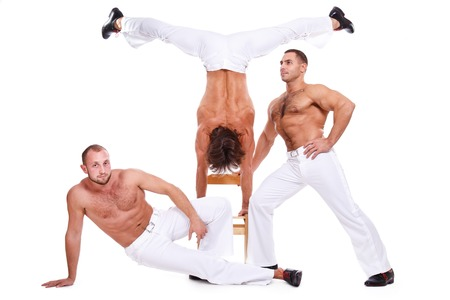 Show, striptease. Handsome guys with sexy body photo