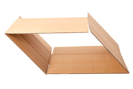 Carton boxes on a white background photo
