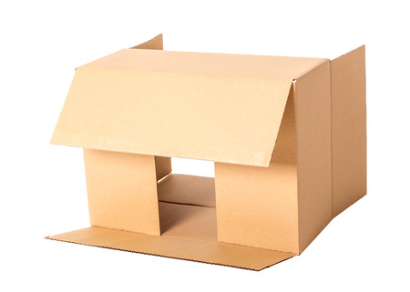 Carton boxes on a white background photo