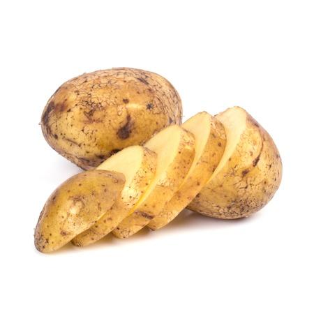 Potato on a white background photo