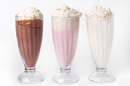 Milkshake cocktail on a white background Imagens