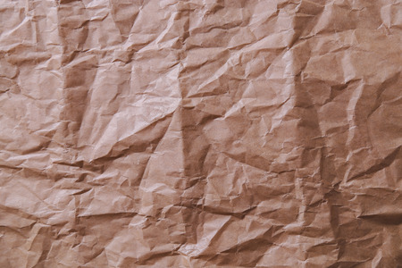crinkly: Frame, pattern. Brown, crinkly paper Stock Photo