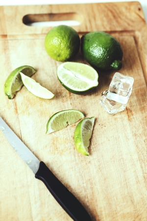 Citrus. Juicy lime on the table photo