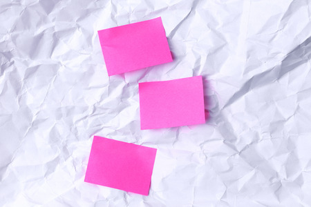 crinkly: Pinky notes on the crinkly paper Stock Photo