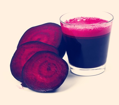 Beetroot drink on a white background photo