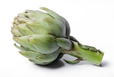 Artichoke on a white background Banco de Imagens