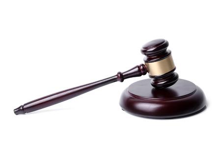 juge marteau: Juge marteau sur un fond blanc