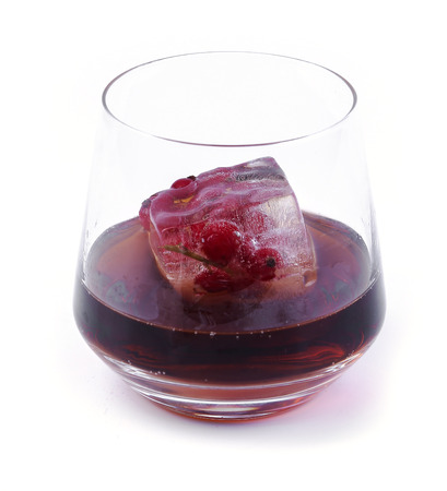 selfmade: Natural, organic, self-made. Frozen berries in a glass