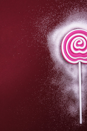 Candy, sugar. Delicious lollipop on the table photo