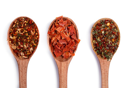 Ingredients. Colorful spices on a white background photo