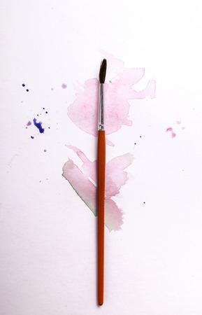 Colors, art. Colorful watercolor paint photo