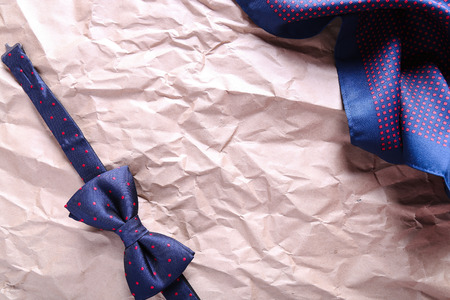 wrinkled paper: Bow tie on the wrinkled paper