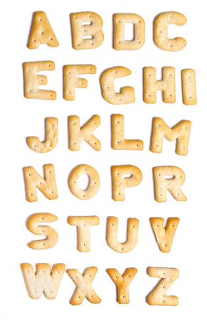 lettres alphabet: Les cookies alphabet sur un fond blanc
