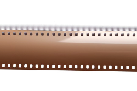 Cinematography. Vintage tape on a white background Stock Photo