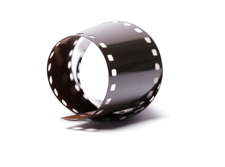 cinematography: Cinematography. Vintage tape on a white background Stock Photo
