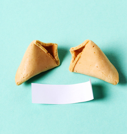 fortune cookie: Fortune cookie on the table Stock Photo
