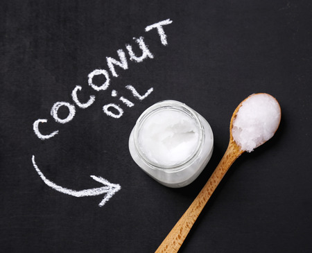 coconut: Drink. Coconut oil on the table