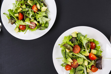 Delicious salad on the table photo