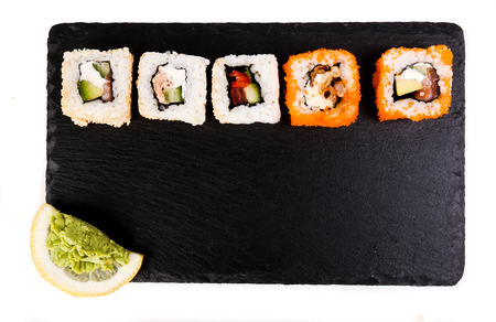 sushi set: Delicious sushi on the table
