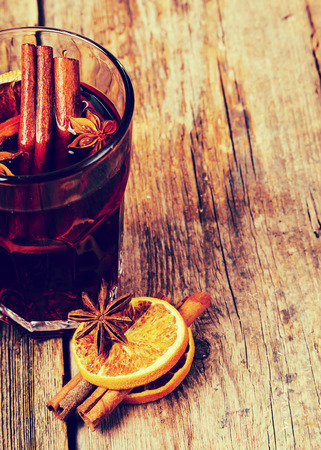 warm drink: Cinnamon with orange and mulled wine