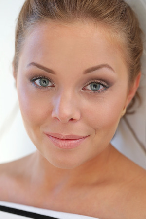 Beauty. Beautiful woman with cute face Stock Photo