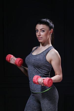 calisthenics: Sport. Beautiful girl in the gym