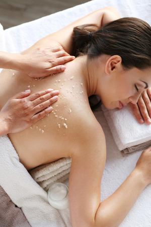 eye massage: Beauty. Girl in the spa salon
