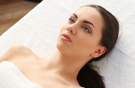 salon and spa: Beauty. Girl in the spa salon
