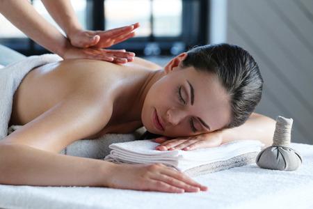 woman towel: Beauty. Girl in the spa salon