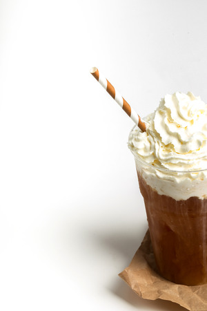 frappe: Delicious frappe coffee on the table