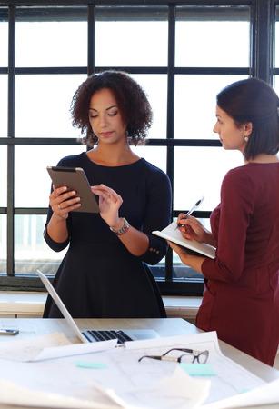 team leadership: Office, lifestyle. Women at work Stock Photo