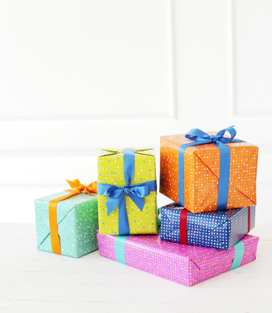 gift packs: Celebration. Gifts on the floor