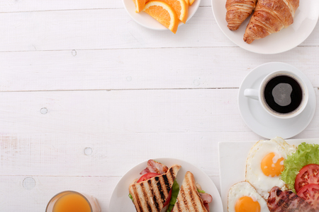 Delicious breakfast on the table Stock Photo - 45368971