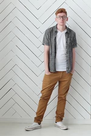 ginger hair: Ginger. Handsome man at home