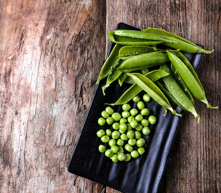 alimentary: Delicious peas on the table Stock Photo