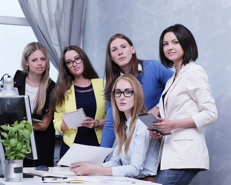corporate women: Business. People in the office Stock Photo