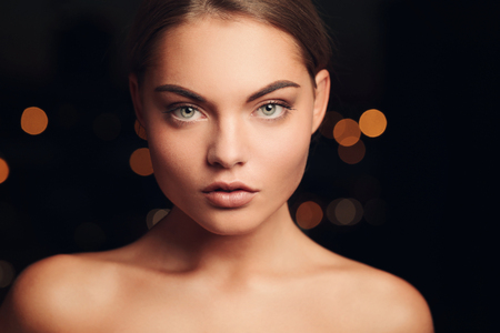 sexy topless women: Beauty, skincare. Beautiful woman with cute face