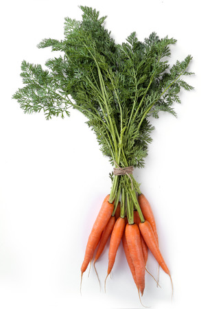 zanahoria: Comida. Zanahorias en la mesa