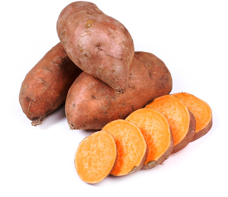 Sweet potato on a white background Imagens