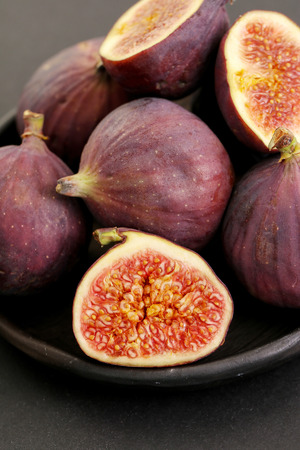 fig fruit: Fig fruit on a dish Stock Photo