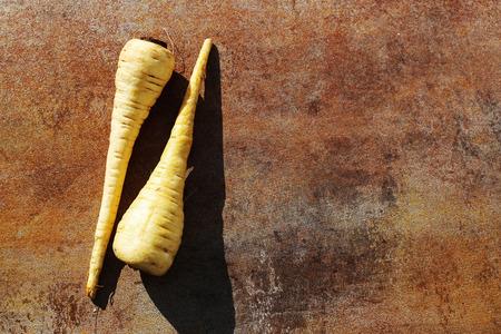 parsnip: Vegetable. Parsnip on the table