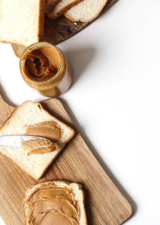 peanut butter: Sweet food. Delicious peanut butter toast