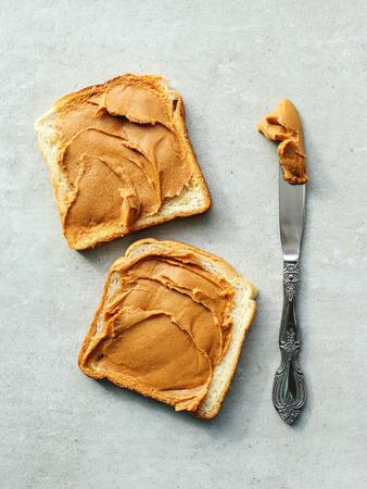 peanut: Sweet food. Delicious peanut butter toast