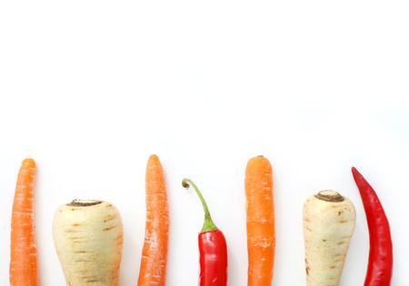 market bottom: Fresh, raw vegetables on the table