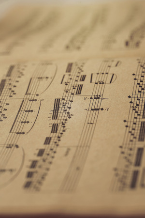 sonata: Music notes on the table