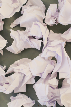 paper sheets: Concept. Creased paper of idea