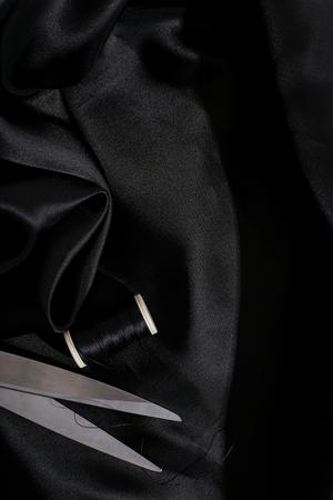 tender tenderness: Piece of elegant, silk fabric Stock Photo
